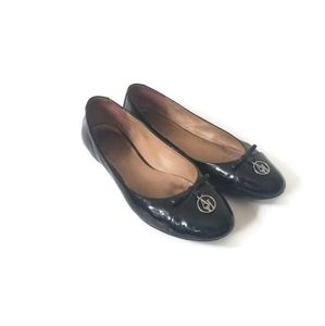 Armani Jeans Flats Shoes Black patent leather sz41